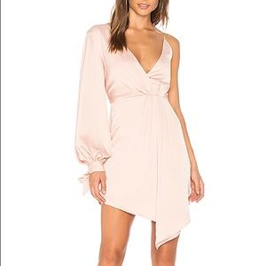 C/MEO Collective Eventual blush one shoulder dress